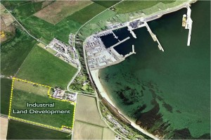 Industrial land area